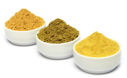 Henna uptan sandalwood powder. On ceramic bowl Stock Photography