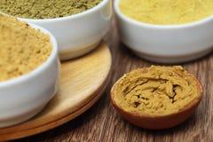 Henna uptan sandalwood powder stock photo