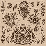 Henna vector design Royalty Free Stock Photo
