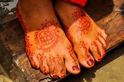 Henna on wedding in Bangladesh Royalty Free Stock Photo