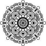 HENNASTRAUCH-Elementmandala Mehndi indische Blumenfür tatoo oder Karte Stockfotos