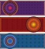 Hennastrauch-Fahnen mit Mandala Lizenzfreie Stockfotografie