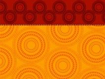 Hennastrauch-Mandalahintergrund Lizenzfreie Stockfotografie