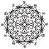 Hennastrauch mehndi tatoo Mandala in der indischen Art Stockfotografie