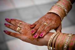 Hennatatuering och smycken Royaltyfri Fotografi