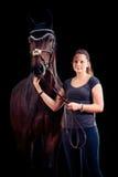 henne hästkvinna Arkivbild