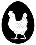 Henne im Ei stock abbildung