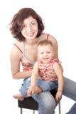 henne leka litet barn för mom Royaltyfri Fotografi