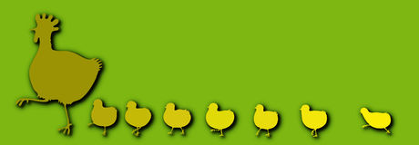 Henne mit Hühnern Lizenzfreie Stockbilder