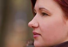 henne profil Royaltyfria Foton