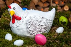 Henne und Eier Lizenzfreies Stockbild