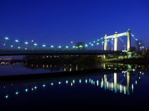 Hennepin ave bridge. Over Mississippi river in Minneapolis Royalty Free Stock Image