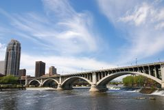 Hennepin Ave. Bridge, Minneapolis, Minnesota Royalty Free Stock Images