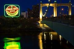 Hennepin Avenue Bridge in Minneapolis Royalty Free Stock Photo