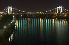 Hennepin Avenue Bridge at Night Stock Photography