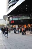 Hennes & Mauritz - loja da forma de H&M em Francoforte Imagem de Stock Royalty Free