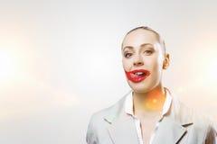 Hennes färg är passion Blandat massmedia Royaltyfri Bild