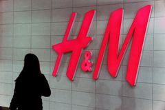 Hennes and Mauritz, Swedish multinational retail-clothing company, known for its fast-fashion clothing stock photos