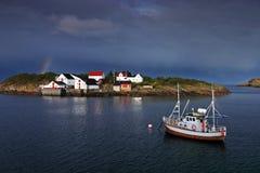 henningsvaer Στοκ φωτογραφία με δικαίωμα ελεύθερης χρήσης