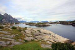 Henningsvaer en Noruega Imagen de archivo libre de regalías