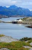 Henningsvaer en Noruega Imagenes de archivo