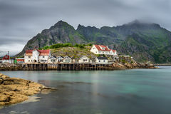 Henningsvaer,  fishing village in the Lofoten archipelago, Norwa Royalty Free Stock Image