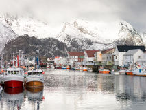 Henningsvaer on Lofoten Islands, Norway Royalty Free Stock Photo