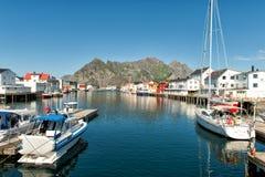 Henningsvaer in Lofoten, Norway royalty free stock images