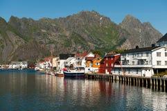 Henningsvaer, Noorwegen Royalty-vrije Stock Fotografie