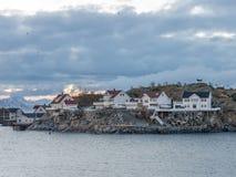 Henningsvaer op Lofoten-Eilanden, Noorwegen Royalty-vrije Stock Afbeeldingen