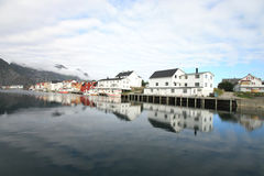 Henningsvaer's mirrors Royalty Free Stock Image