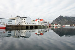 Henningsvaer's striped sky Stock Photography