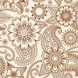 Henny mehndi bezszwowy wzór ilustracji