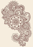 Henny Mehndi Paisley Doodle Wektorowy projekt ilustracja wektor