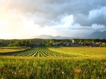 Heno del prado que hace tiempo Fotografía de archivo