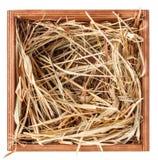 Heno en caja Imagen de archivo libre de regalías