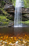 Henrhyd Falls on the Nant Lech river, Brecon Beacons, South Wale Stock Photography