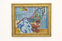 Matisse painting in Pinakothek der Moderne in Munich. Henri-Émile-Benoît Matisse was a French artist, known for both his use of colour and his fluid and Stock Photography