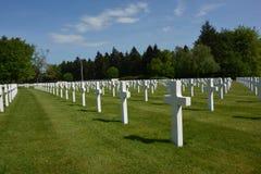 HENRI-CHAPELLE,比利时- 2016年5月 军用公墓和纪念品 免版税库存照片