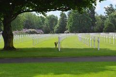 Henri-Chapelle, Βέλγιο - 31 Μαΐου 2017: Αμερικανικά στρατιωτικά νεκροταφείο και μνημείο Στοκ Εικόνες