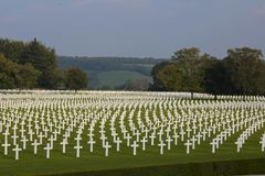 Henri-Chapelle American Cemetery and Memorial Stock Photos