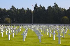 Henri-Chapelle American Cemetery, WWII Imagem de Stock Royalty Free