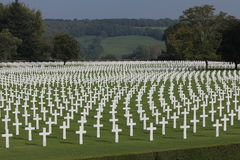 Henri-Chapelle American Cemetery, WWII, Belgien Stockbilder