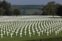 Henri-Chapelle American Cemetery WWII, Belgien Arkivbilder
