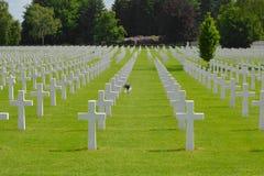 Henri-Chapelle, België - Mei 31, 2017: Amerikaans Militair Begraafplaats en Gedenkteken Stock Foto's