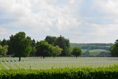 Henri-Chapelle, België - Mei 31, 2017: Amerikaans Militair Begraafplaats en Gedenkteken Stock Afbeeldingen