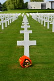 Henri-Chapelle, Belgien - 31. Mai 2017: Amerikanischer Militärfriedhof und Denkmal stockfotos