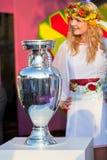 Henri Delaunay Trophy van het Kampioenschap van UEFA royalty-vrije stock foto's