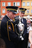 Henri Delaunay trophy in Wroclaw. UEFA Euro 2012. Stock Images