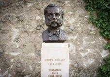 Henri Dunant, Genebra, Switzeland fotografia de stock